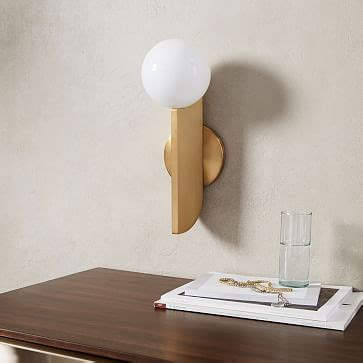 bower led sconce west elm