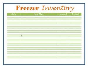 Printable Freezer Inventory Sheet