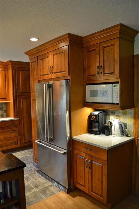 david hecht custom kitchens  bosss kitchen part  refrigerator wall