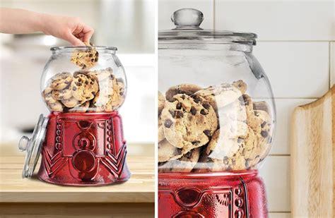 unique large glass gumball machine cookie jar decor steals