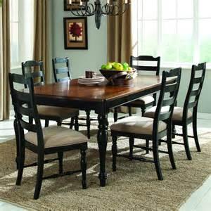 7 dining room sets homelegance mckean 7 dining room set in black brown beyond stores