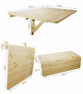 Table Pliable Murale : sobuy fwt02 w table murale rabattable en bois double plateaux platea ~ Preciouscoupons.com Idées de Décoration