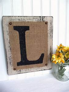 rustic letter burlap painted monogram different colors and With rustic monogram letters
