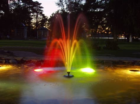lighted outdoor water fountains pool design ideas