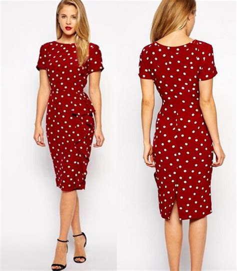 modele de robe de bureau 2016 retro dress polka dot slim large size of