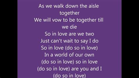 All 4 One- So In Love W/lyrics