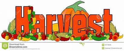 Harvest Clipart Word Vegetables Festival Fruit Clip