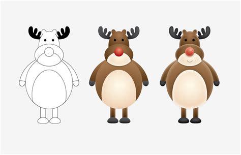 create  cute vector reindeer character  illustrator