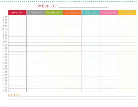 printable weekly schedule   caught