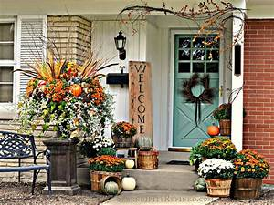 Serendipity, Refined, Blog, Fall, Harvest, Porch, Decor, With, Reclaimed, Wood, Sign