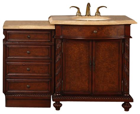 52 Inch Single Sink Bathroom Vanity by 52 In Single Sink Bathroom Vanity Contemporary Bathroom