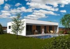 Přízemní domy s rovnou střechou