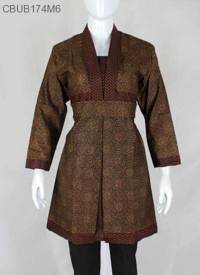 dress batik motif sogan klasik dress murah batikunik