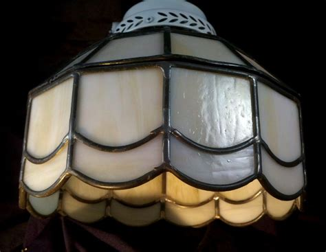 stained glass flush mount ceiling or fan light fixture