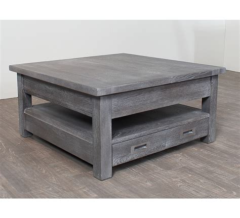 table basse carree chene massif 3822