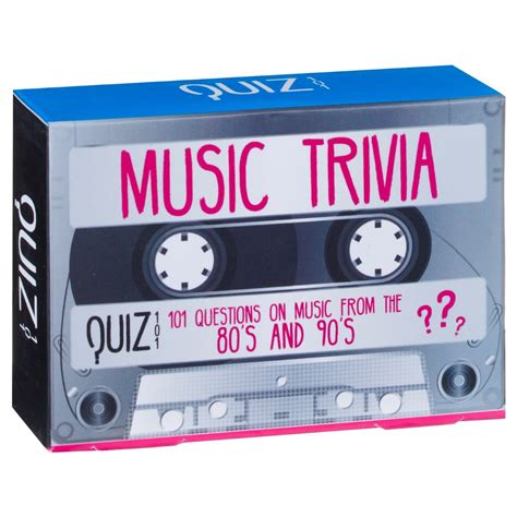 Take this general knowledge quiz, featuring queen and general trivia. Music Trivia Game - 80s & 90s | Novelty Gifts - B&M