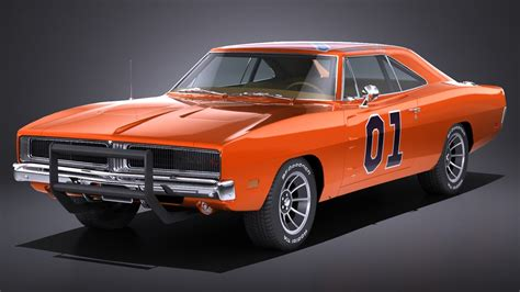General Dodge Charger by Lowpoly Dodge Charger 1969 General