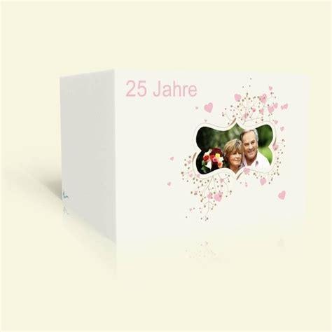 einladung silberhochzeit ornament mit rosa herzen