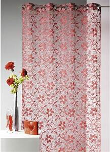 Rideau Voilage Rouge : voilage de couleur rouge feu photo ~ Teatrodelosmanantiales.com Idées de Décoration