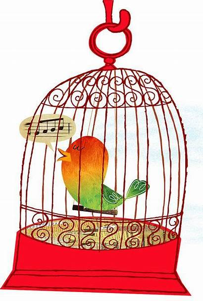 Cage Bird Clipart Birds Cages Caged Pet