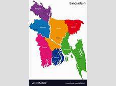 Bangladesh map Royalty Free Vector Image VectorStock