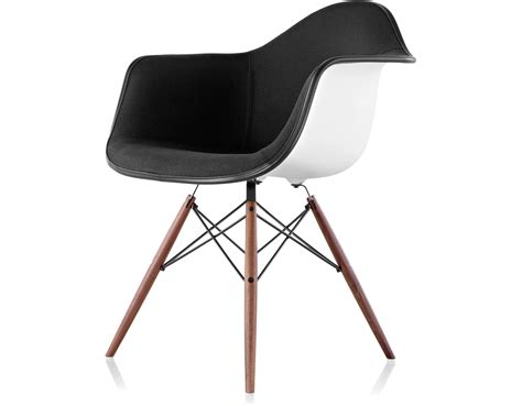 Armchair Chair by Eames 174 Upholstered Armchair With Dowel Base Hivemodern