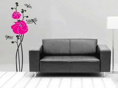 wall decorating pink  purple poppy
