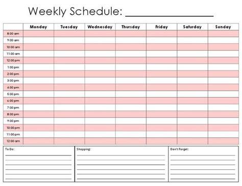 Daily Hourly Calendar Template  Printable Calendar 2014
