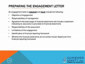 An update on statements on standards for accounting and for Cpa review engagement letter