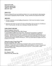 recruiter resume objective sles executive recruiter resume template for free