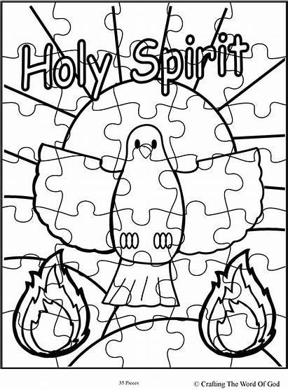 Puzzle Coloring Pages Holy Spirit Sunday Crafts