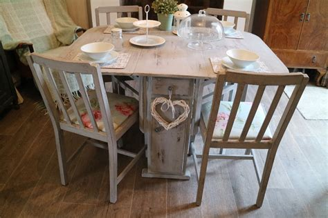 country kitchen tables with benches shabby chic dining table and 4 chairs country 8464