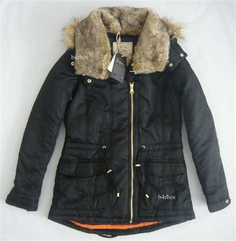 Zara Fur Lined Parka M Black Hooded Jacket s Coat TRF Trafaluc Ref 0398 204 | Dress Up ...