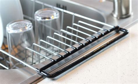 drain racks for kitchen sinks the sink kitchen dish drainer rack durable chrome 8817