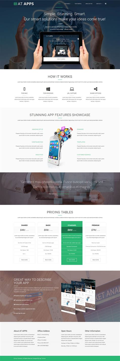 Onepage Theme Age Themes Apps Onepage V2 0 0 Landing Template Mobile
