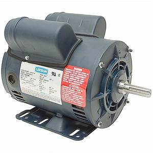 5 Hp Special Duty 230 Vac 3450 Rpm Leeson Air Compressor Motor