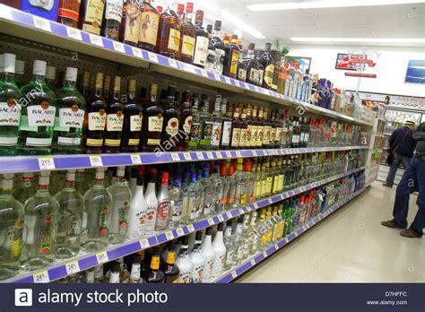 Miami Beach Florida Walgreens Liquor Store Shelves Retail