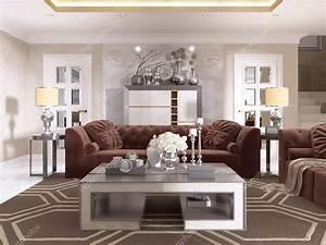 Art Deco Stil : vardagsrum i art d co stil med stoppade designer tra stockfotografi kuprin33 128161200 ~ A.2002-acura-tl-radio.info Haus und Dekorationen
