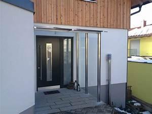 Vordach Glas Mit Seitenteil : modernes vordach hauseingang mit seitenteil hochwertige ~ Watch28wear.com Haus und Dekorationen