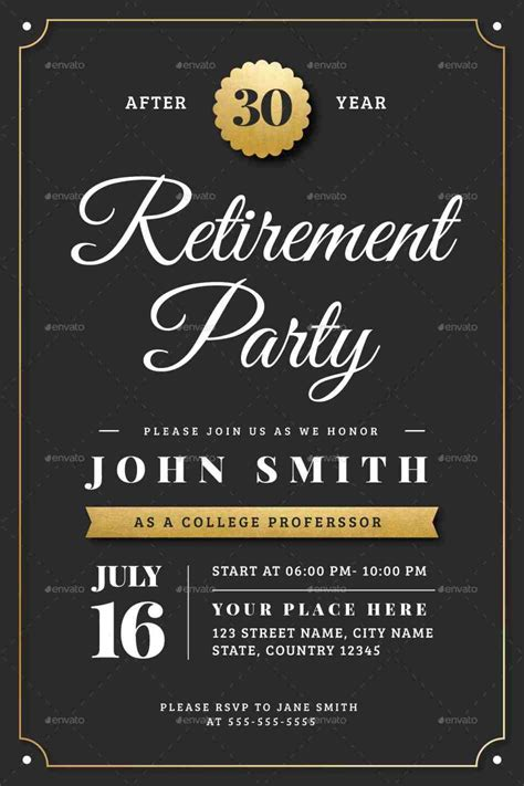 Gold-retirement-flyer-template-powerpoint-retirement