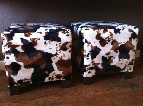 Faux Cowhide Ottoman by Faux Cowhide Ottoman Cubes So Easy To Make And Much