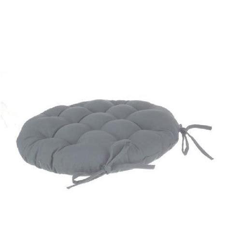 galette de chaise ronde diam 40 cm gris achat
