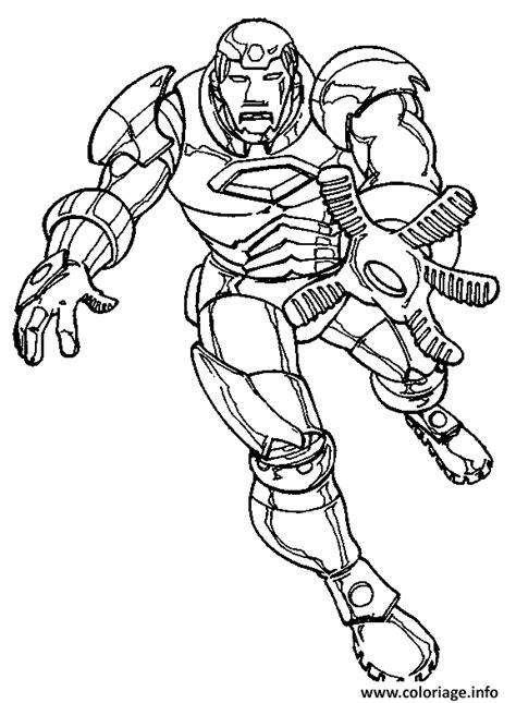 coloriage iron man  dessin