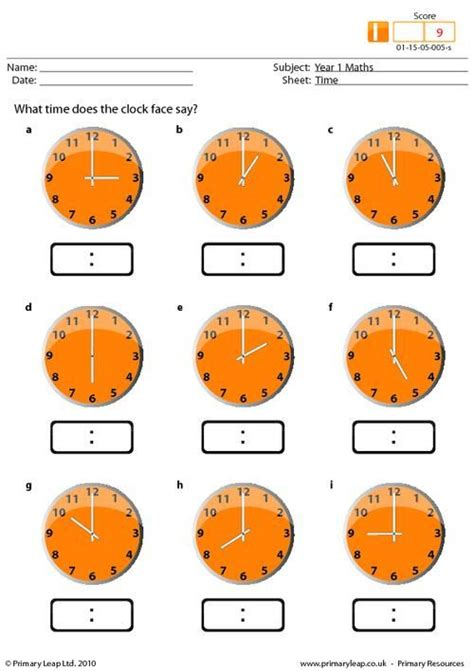 primary resources maths time worksheets maths worksheets