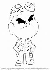 Titans Gizmo Teen Draw Drawing Step Cartoon Tutorials Drawingtutorials101 sketch template