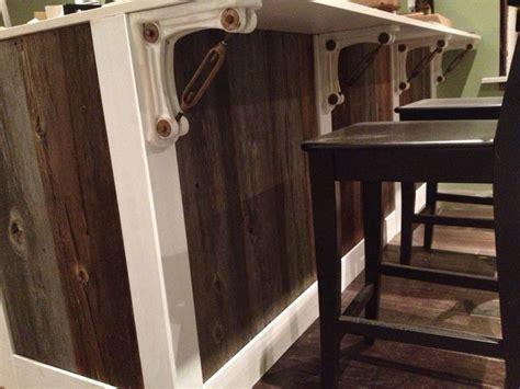barn wood kitchen island with ikea cabinets and uba tuba