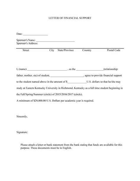 letter of support 40 proven letter of support templates financial for