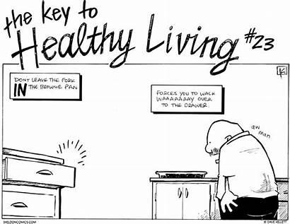 Healthy Living Strip Comic Strips Lifestyle Sheldon