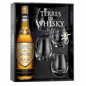 Coffret Verre Whisky : coffret terres de whisky powers gold label 70 cl 4 verres ~ Teatrodelosmanantiales.com Idées de Décoration