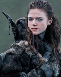 Ygritte - Wildling - Portraits Of Westeros Painting by ...  Ygritte